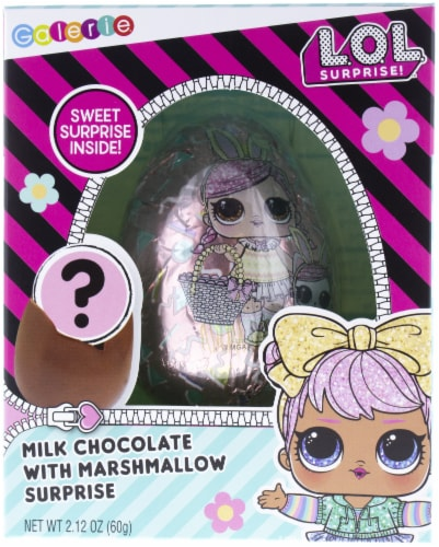 Galerie L.O.L. Surprise Milk Chocolate Egg with Marshmallow Perspective: front