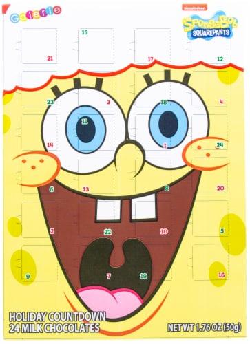 Nickelodeon Spongebob Square Pants Chocolate Advent Calendar Perspective: front