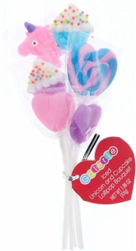 Galerie Iced Unicorn & Cupcake Lollipop Bouquet Perspective: front