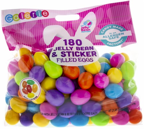 Galerie Jelly Bean and Sticker Filled Eggs Perspective: front