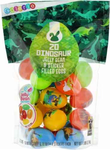 Galerie Dinosaur Jelly Bean & Sticker Filled Eggs Perspective: front
