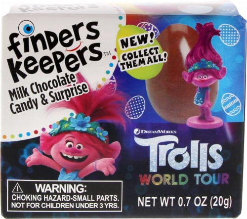 Galerie Trolls Finders Keepers Milk Chocolate Candy & Surprise Perspective: front