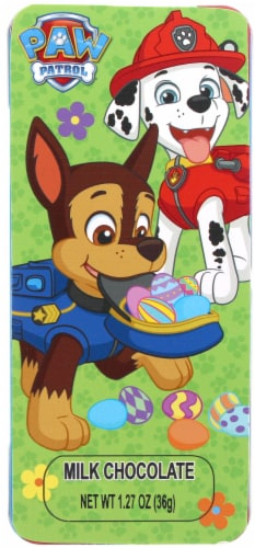 Galerie Paw Patrol Milk Chocolate Candy Tin Perspective: front