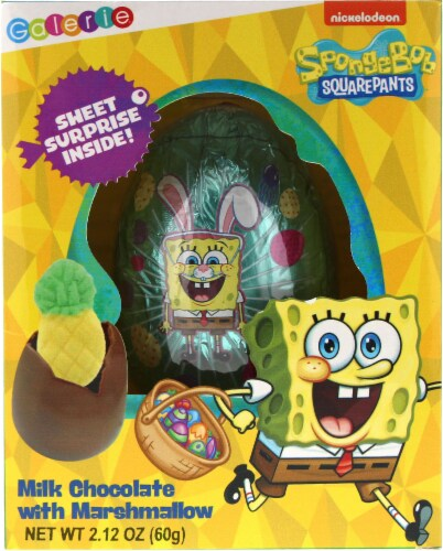 Galerie Spongebob Squarepants Milk Chocolate Egg with Marshmallow Perspective: front