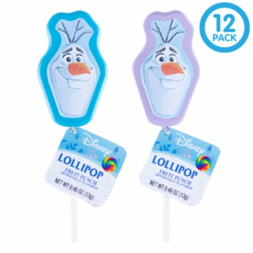 Frozen 2 Lollipop Party Favors with Collectible Keepsake Tin Perspective: front