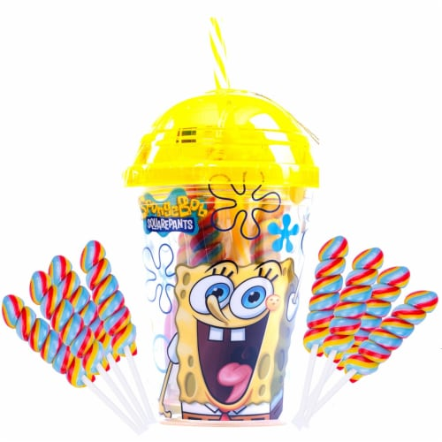 SpongeBob SquarePants Tumbler with Mini Swirl Lollipops Perspective: front