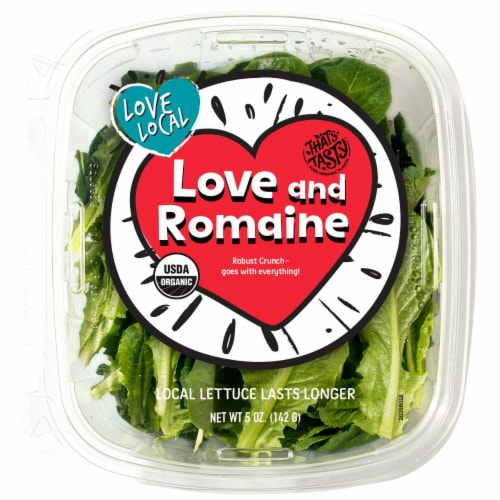 That's Tasty Love and Romaine Lettuce Perspective: front