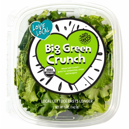 That's Tasty Big Green Crunch Lettuce Perspective: front