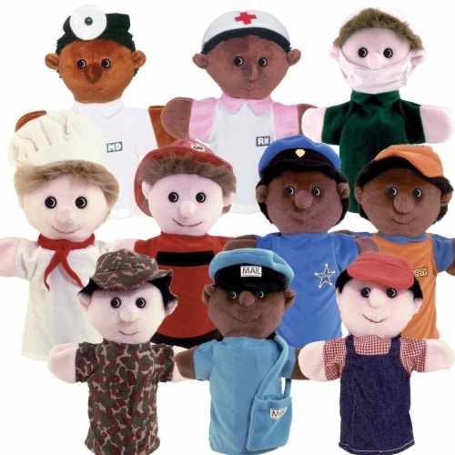 Get Ready Kids MTB469 Kids Community Helper Career Puppet, Set of 10 Perspective: front