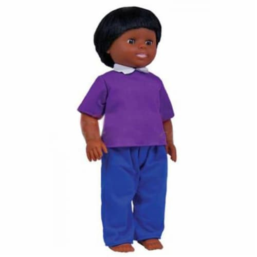 Get Ready 633 Get Ready Kids African American Boy Doll Perspective: front