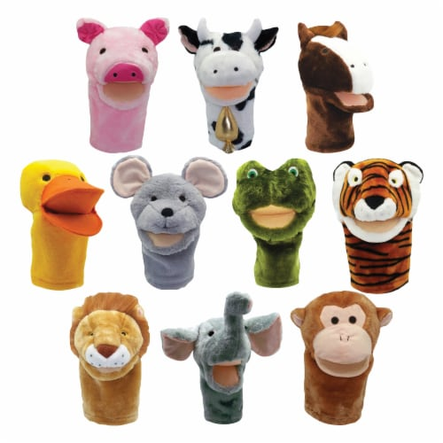 BigMouth Inc. Animal Puppet Set Perspective: front