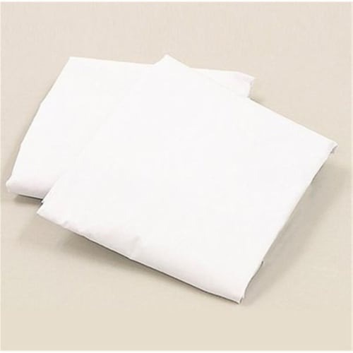 L A BABY 3009-WH Knitted Fitted Sheet For Full Size Crib Natural 100% Cotton Fabric- White Perspective: front