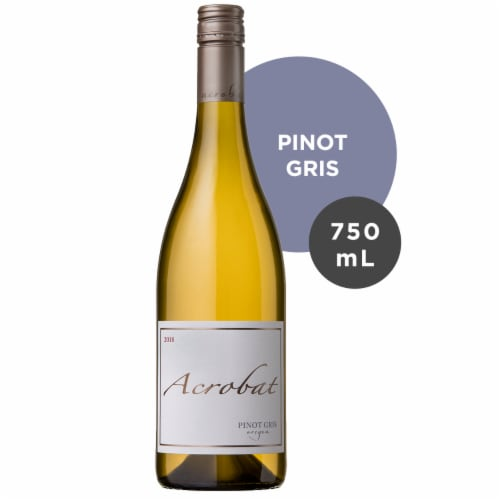 Acrobat Oregon Pinot Gris White Wine Perspective: front