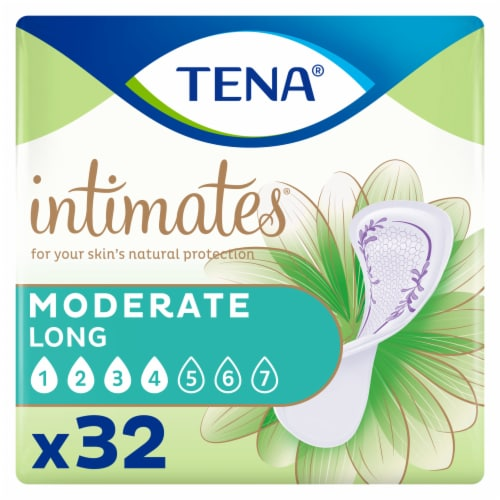 TENA Intimates Moderate Thin Long Pads Perspective: front