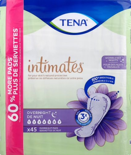 TENA Intimates Overnight Pads Perspective: front