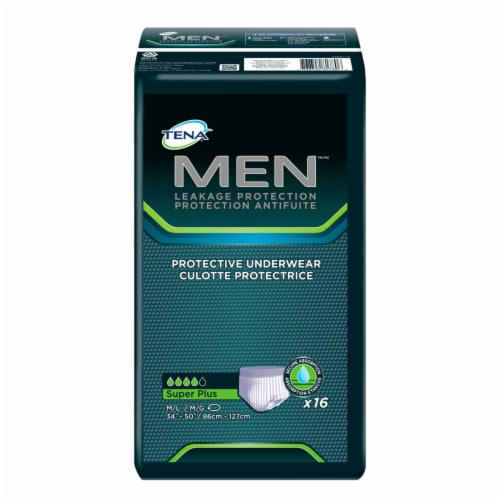 TENA Men Super Plus M/L Protection Underwear Perspective: front