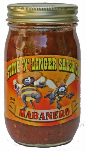 Sting 'N' Linger Habanero Salsa Perspective: front