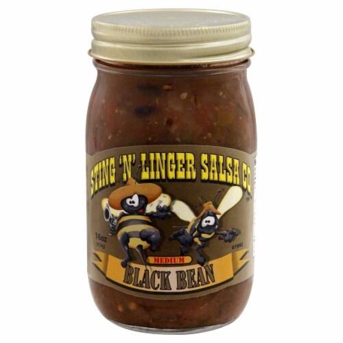 Sting 'N' Linger Black Bean Salsa Perspective: front