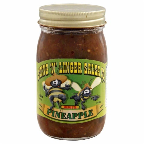 Sting 'N' Linger Pineapple Salsa Perspective: front