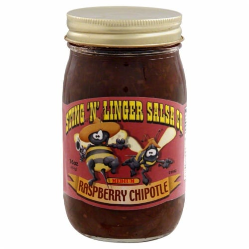 Sting 'N' Linger Raspberry Chipotle Salsa Perspective: front