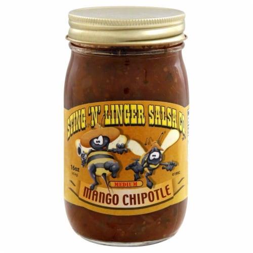 Sting 'N' Linger Mango Chipotle Salsa Perspective: front