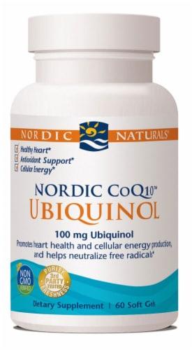 Nordic Naturals  Nordic CoQ10™ Ubiquinol Perspective: front