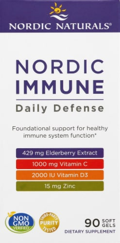 Nordic Naturals Immune Daily Defense Softgels Perspective: front