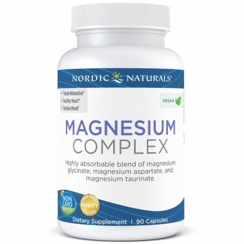 Nordic Naturals Magnesium Complex Dietary Supplement Perspective: front