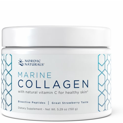 Nordic Naturals Strawberry Marine Collagen Perspective: front