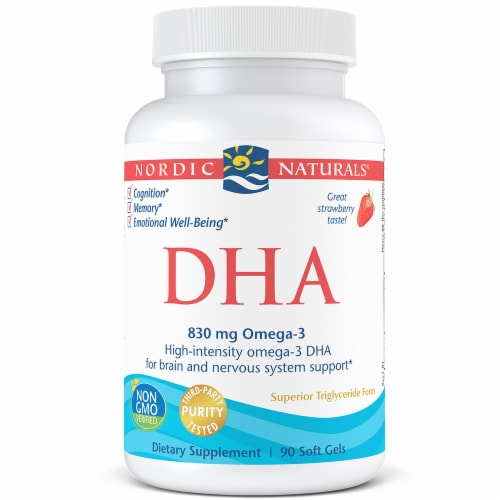 Nordic Naturals DHA from Fish Oil Strawberry Softgels Perspective: front