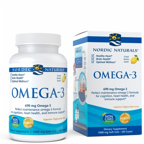 Nordic Naturals Omega-3 Soft Gels Perspective: front