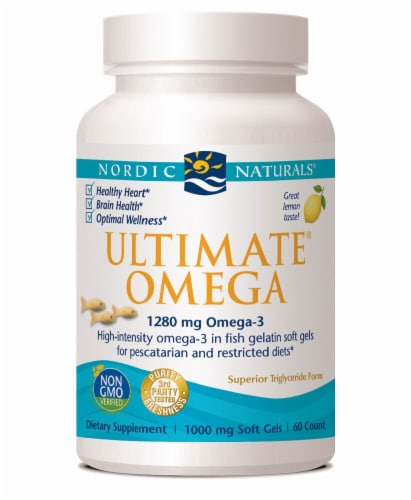 Nordic Naturals  Ultimate® Omega   Lemon Perspective: front