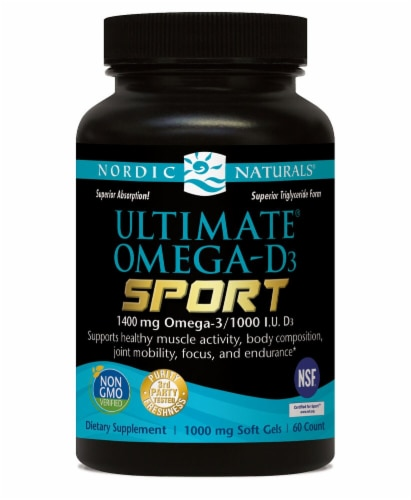 Nordic Naturals  Ultimate Omega®-D3 Sport Perspective: front