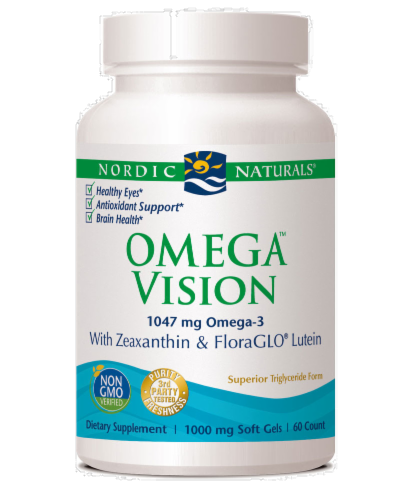 Nordic Naturals Omega Eye 1000 Mg + Lutein & Xeaxanthin Perspective: front