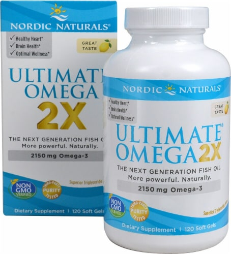 Nordic Naturals  Ultimate® Omega 2X   Lemon Perspective: front