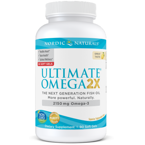 Nordic Naturals Ultimate Omega 2x Soft Gels 2150mg Perspective: front