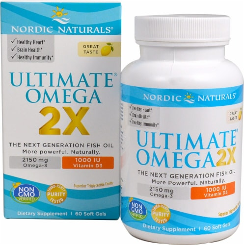 Nordic Naturals  Ultimate Omega® 2X with Vitamin D3   Lemon Perspective: front
