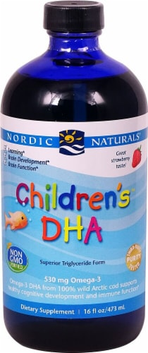 Nordic Naturals  Children's™ DHA   Strawberry Perspective: front