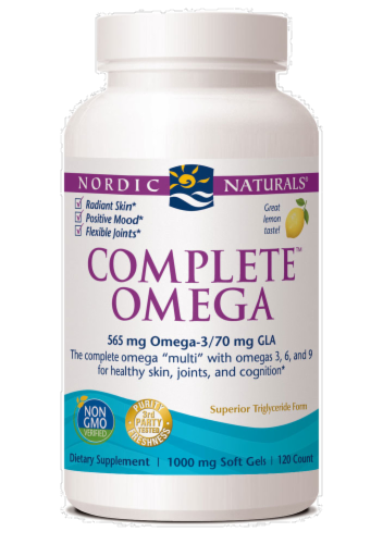 Nordic Naturals Complete Omega-3-6-9 Fish Oil Perspective: front