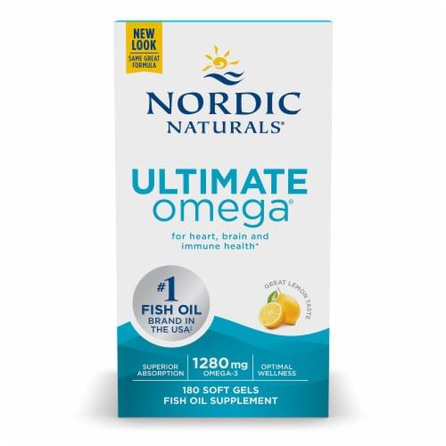 Nordic Naturals Ultimate Omega Lemon Soft Gels Perspective: front