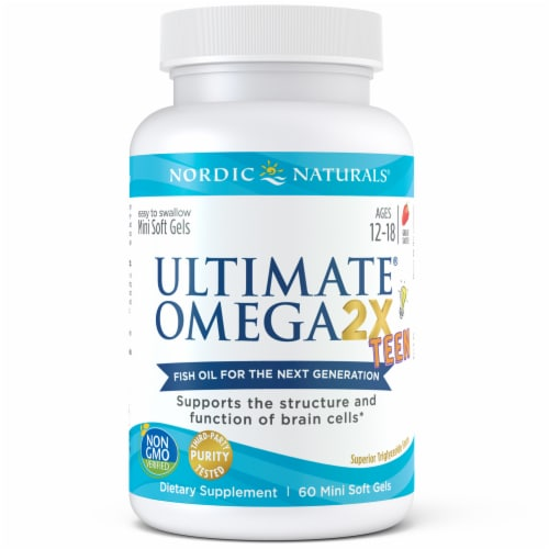Nordic Naturals Ultimate Omega 2X Teen Mini Soft Gels Perspective: front