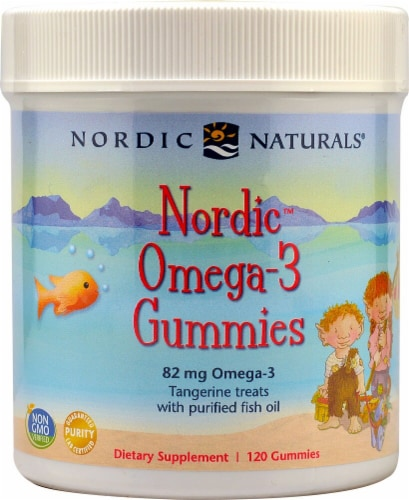 Nordic Naturals  Nordic™ Omega-3 Gummies   Tangerine Perspective: front