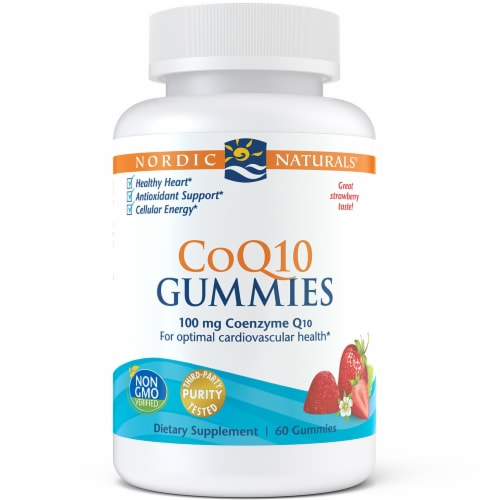 Nordic Naturals CoQ10 Gummies 100 mg Perspective: front