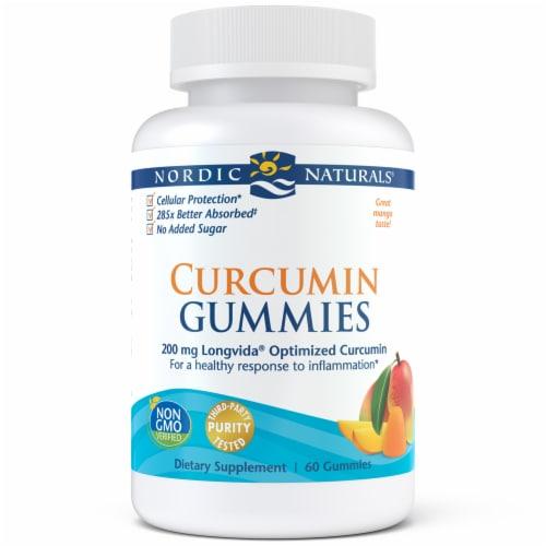 Nordic Naturals Longvida Optimized Curcumin Gummies Perspective: front