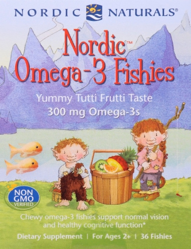 Nordic Naturals Omega-3 Tutti Frutti Fishies Gummies Perspective: front