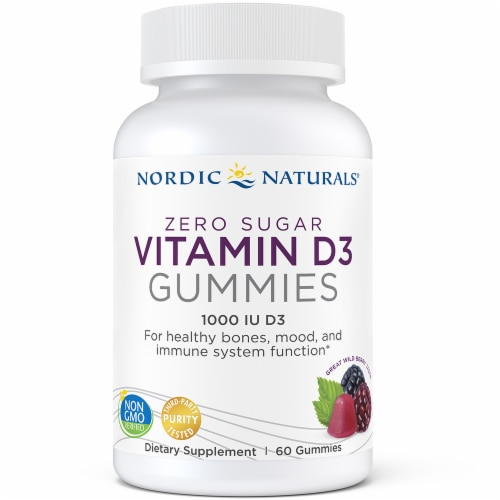 Nordic Naturals Zero Sugar Vitamin D3 Gummies Perspective: front
