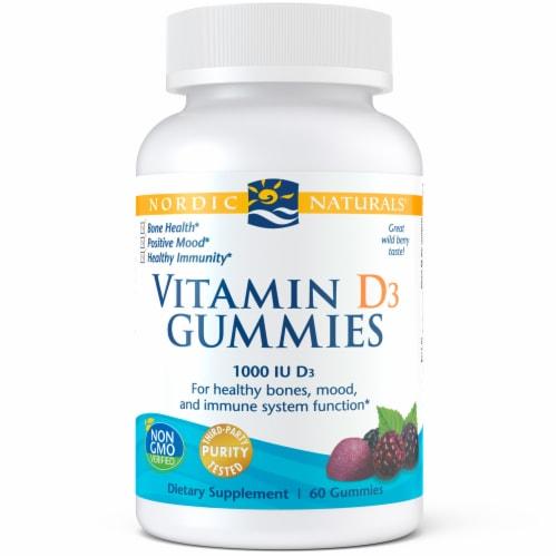 Nordic Naturals Vitamin D3 Gummies 1000 IU Perspective: front