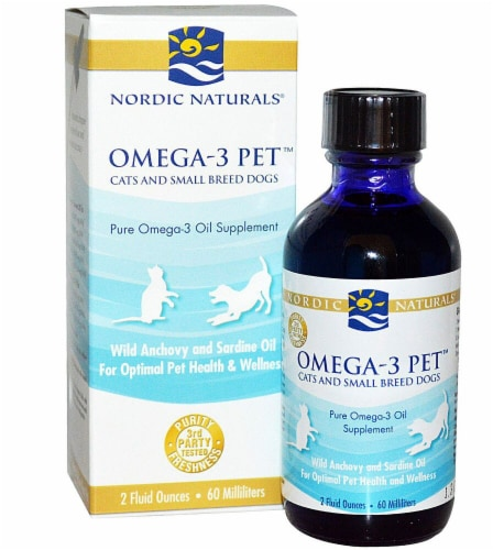 Nordic Naturals  Omega-3 Pet™ Cats and Small Breed Dogs Perspective: front