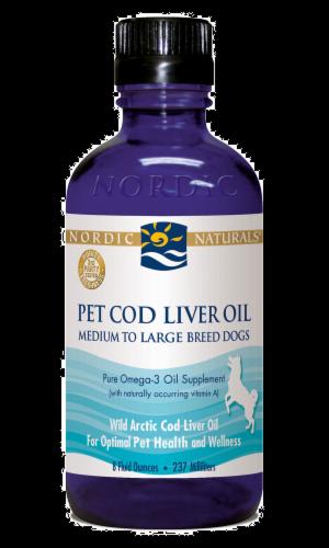 Nordic Naturals Pet Cod Liver Oil Perspective: front