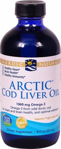 Nordic Naturals  Arctic Cod Liver Oil   Unflavored Perspective: front